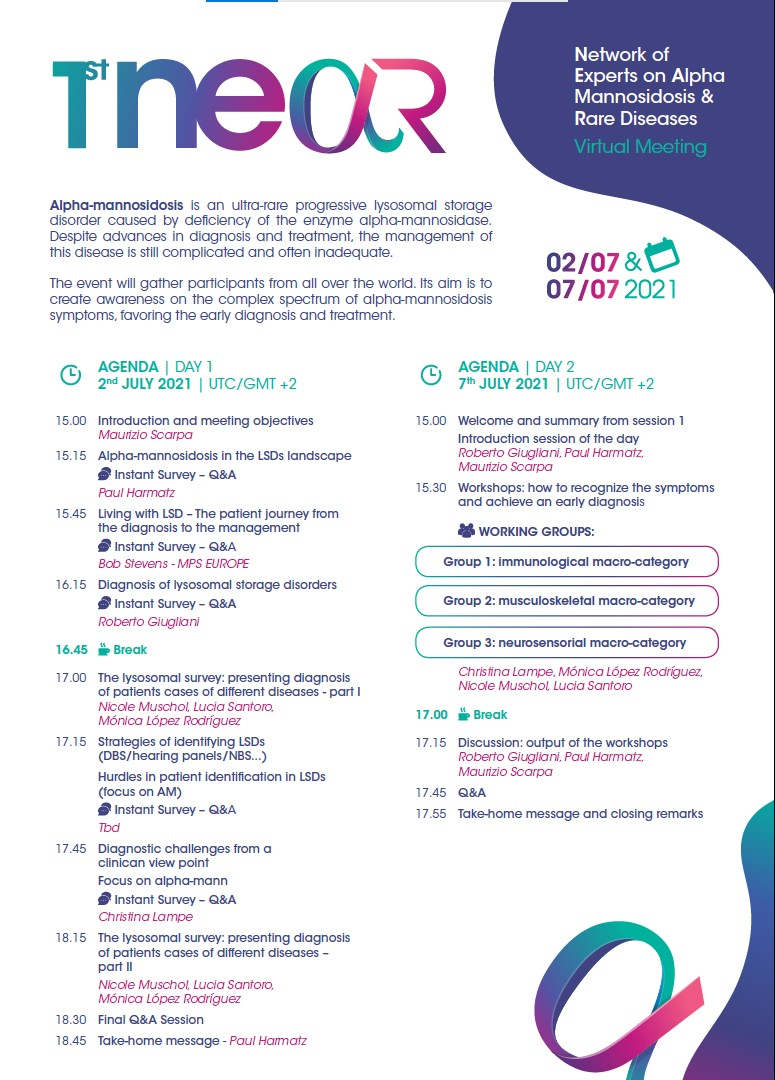 Day1-Network of Experts on Alpha Mannosidosis & Rare Diseases @ Virtual Meeting